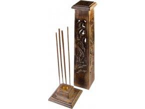 Stojánek na vonné tyčinky dřevěný Kuželovitá věž, 30 cm