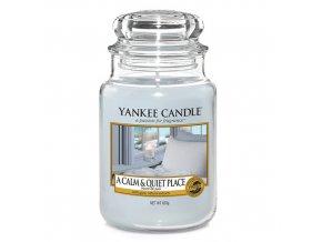 Vonná svíčka Yankee Candle Klidné a tiché místo A CALM & QUIET PLACE, 623 g