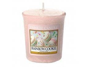 Votivní vonná svíčka Yankee Candle Duhové makronky RAINBOW COOKIE, 49 g