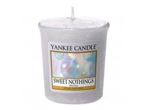 Votivní vonná svíčka Yankee Candle Sladké nic SWEET NOTHINGS, 49 g