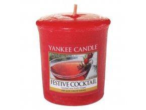 Votivní vonná svíčka Yankee Candle Sváteční koktejl FESTIVE COCKTAIL, 49 g