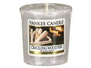 Votivní vonná svíčka Yankee Candle Praskající oheň CRACKLING WOOD FIRE, 49 g