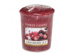 Votivní vonná svíčka Yankee Candle Brusinky na ledu CRANBERRY ICE, 49 g