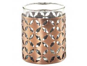 Svícen Yankee Candle – kovový, na votivní svíčku, Moroccan Copper, výška 6 cm