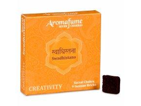 Aromafume vonné cihličky 7 Čaker Swadhishtana, 9 ks