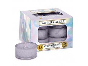 Čajová svíčka Yankee Candle Sladké nic SWEET NOTHINGS, 12 ks