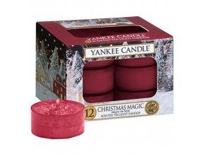 Čajová svíčka Yankee Candle Vánoční kouzlo Christmas Magic, 12 ks