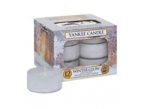 Čajová svíčka Yankee Candle - Zářivá zima - WINTER GLOW, 12 ks
