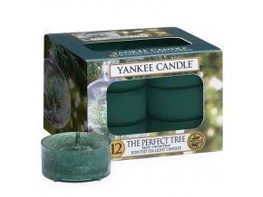Čajová svíčka Yankee Candle Dokonalý stromek Perfect Tree, 12 ks