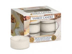 Čajová svíčka Yankee Candle Bílé kakao s kořením Spice White Cocoa, 12 ks