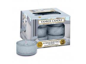 Čajová svíčka Yankee Candle Klidné a tiché místo A Calm & Quiet Place, 12 ks