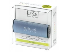 Vůně do auta Millefiori Milano Icon Kyslík, design Metallo modrá matná