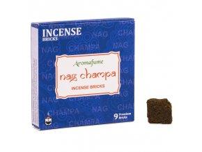 Aromafume vonné cihličky Bricks Nag Champa, 9 ks