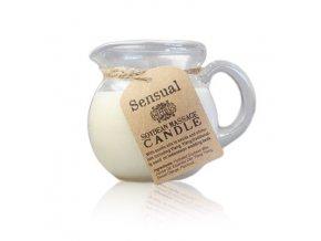 Sójová masážní aroma svíčka SENZUÁLNÍ, 220 g