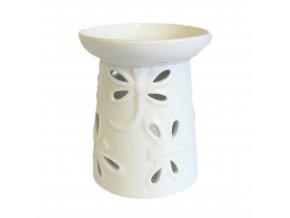 Aroma lampa Vážka Bílá keramika, 8 x 7 cm