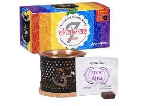 Aromafume difuzér 7 Chakra pro vonné cihličky + sada vonných cihliček 14 ks