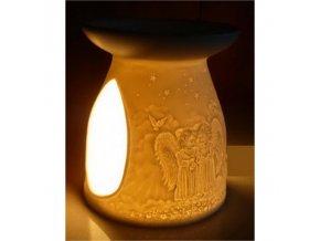 Aroma lampa Andělé porcelán, 12 cm