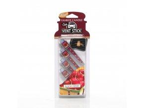 Vonné kolíčky Yankee Candle Zralé třešně, osvěžovač do auta, 4 x