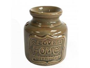 Aroma lampa Modrý kámen Love Home Sweet Home, 11 x 9 x 9 cm