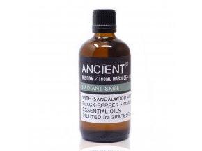 Aroma olej pro masáže a do koupele Santalové dřevo směs, 100 ml