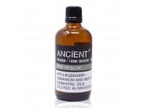 Aroma olej pro masáže a do koupele Na zmírnění příznaků PMS směs, 100 ml