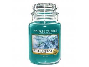 Vonná svíčka ve skleněné dóze Zledovatělý modrý smrk Icy blue spruce , 623 g