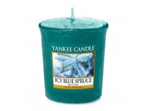 Votivní svíčka Yankee Candle Zledovatělý modrý smrk Icy blue spruce, 49 g