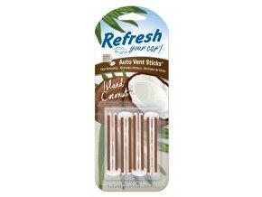 Vonné kolíčky Refresh your car Island Coconut, osvěžovač do auta, 4 ks