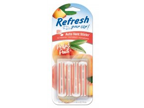 Vonné kolíčky Refresh your car Perfect Peach, osvěžovač do auta, 4 ks