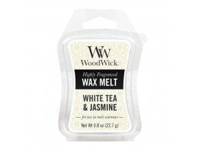 Vonný vosk WoodWick Bílý čaj a jasmín 22,7 g