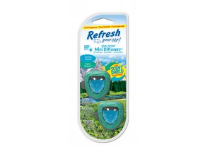 Vůně do auta Refresh Your Car Mini Diffusers Alpine MeadowSummer Breeze, 2 ks