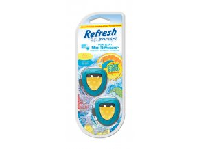 Vůně do auta Refresh Your Car Mini Diffusers Citrus SparkleSummer Splash, 2 ks