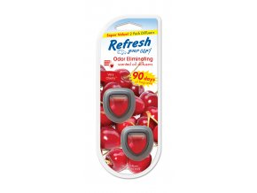 Vůně do auta Refresh Your Car Mini Diffusers Very Cherry, 2 ks