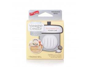 Náhradní náplň vůně do auta Yankee Candle Charming Scents Vanilla Cupcake Vanilkový košíček, 30 g