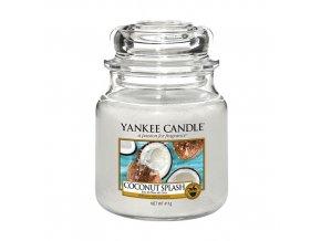 Vonná svíčka ve skleněné dóze Kokosové osvěžení COCONUT SPLASH, 411 g