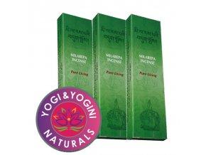Vonné tyčinky Tibetan Milarepa Pure living Čistý život, 20 g