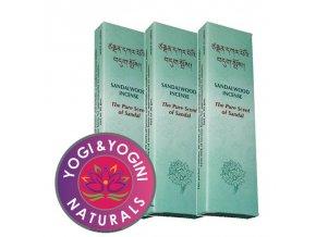 Vonné tyčinky Tibetan Sandalwood The Pure Scent of Sandal Čistá vůně Santalu, 20 g