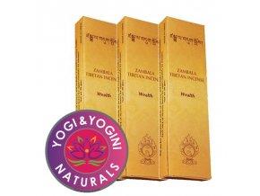 Vonné tyčinky Tibetan Zambala Wealth Bohatství, 20 g