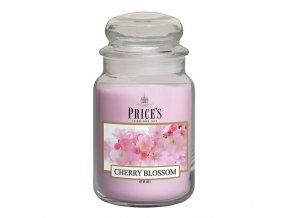Vonná svíčka Price´s Třešňový květ, 630 g
