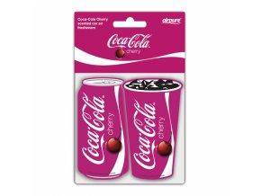 Osvěžovač vzduchu Coca Cola® Paper Air Freshener Cherry, 2 ks