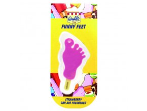 Osvěžovač vzduchu Wall's® Ice Cream Funny Feet 3D Car Air Freshener Strawberry, 1 ks