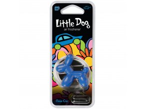 Osvěžovač vzduchu Little Dog Vent 3D Air Freshener Blue New Car, 1 ks
