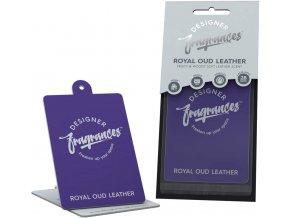 Osvěžovač vzduchu Royal Oud 2D Air Freshener Polish & Glow Leather, 1 ks