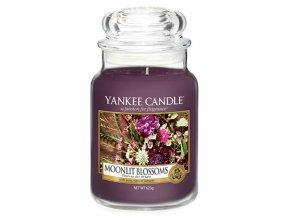 Vonná svíčka ve skleněné dóze Květiny ve svitu měsíce MOONLIT BLOSSOMS, 623 g