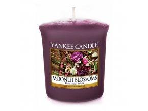 Votivní svíčka Yankee Candle Květiny ve svitu měsíce, 49 g