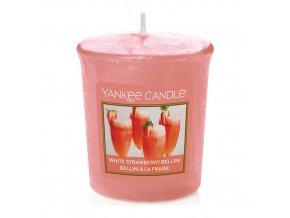 Votivní svíčka Yankee Candle Jahodové Bellini, 49 g