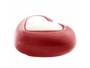 Aroma difuzér keramický Air Design fialový srdce, 10 x 6 cm