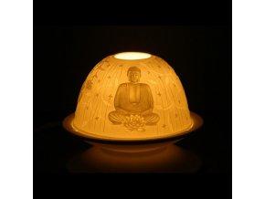Porcelánový svícen Feng Shui Buddha, 12 x 8 cm