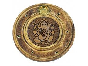 Stojánek na vonné tyčinky a kužely Ganesha, 10 cm