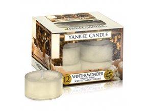 Čajová svíčka Zimní zázrak Winter wonder, 12 ks